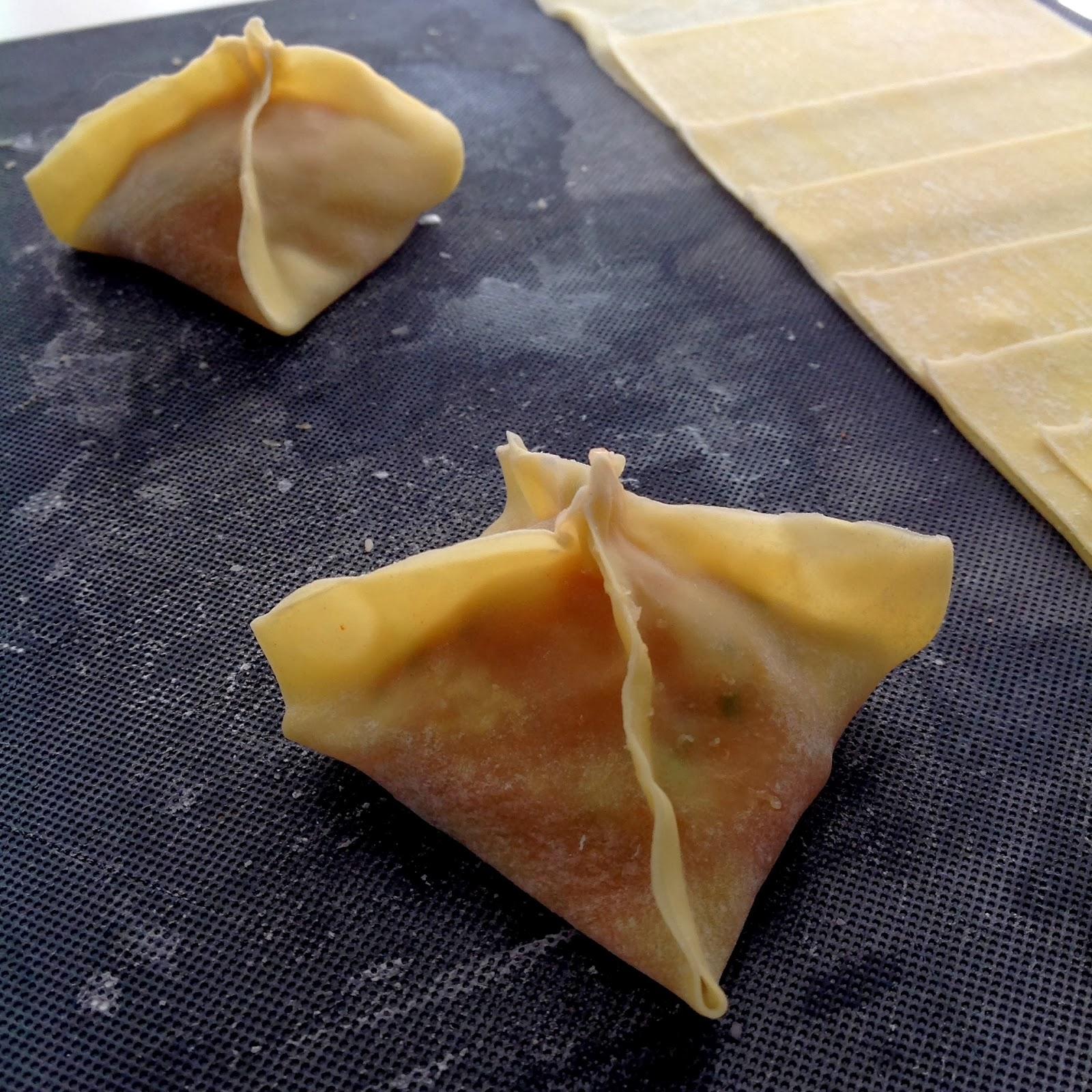 Dumplings de pollo - Receta