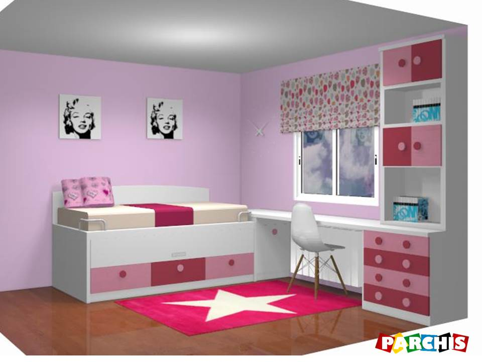 Muebles juveniles dormitorios infantiles y habitaciones for Medidas camas compactas juveniles