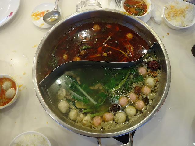 The twin hot pot at Xiao Wei Yang