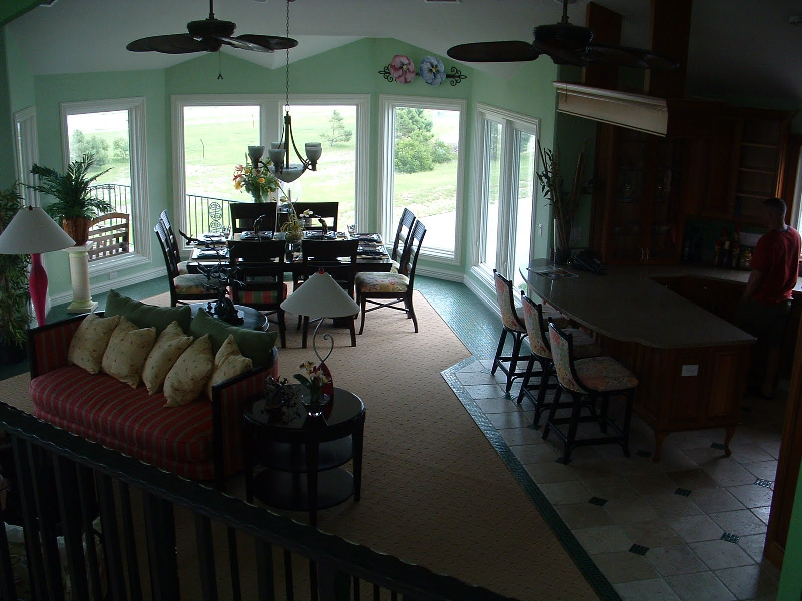 View of Living and Dining Rooms from Loft #53804B