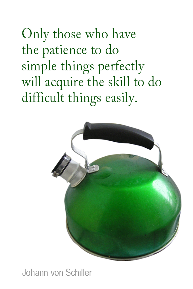 visual quote - image quotation for LEARNING - Only those who have the patience to do simple things perfectly will acquire the skill to do difficult things easily. - Johann von Schiller