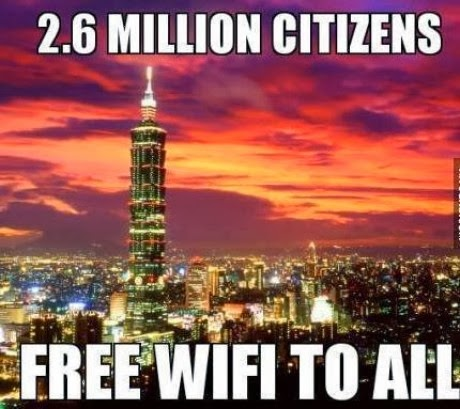 Taiwan has become the first country in the world to offer free Wi-Fi connectivity to its citizens and tourists alike.