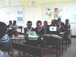 Mairowa children on laptops