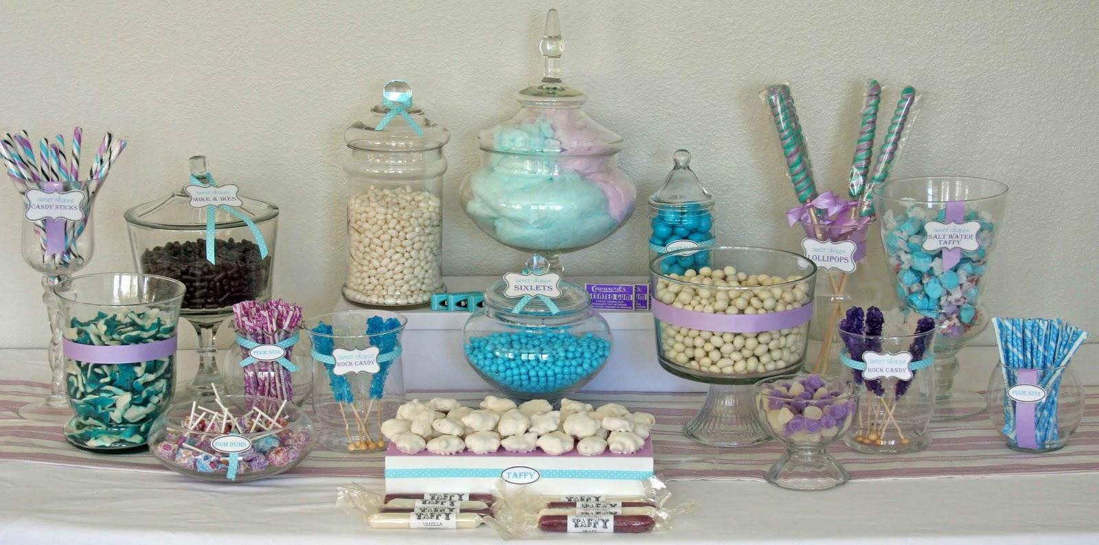 Centros de mesa para boda: Ideas para mesa de dulces en una boda