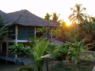 yoga shala in Kerala sunrise