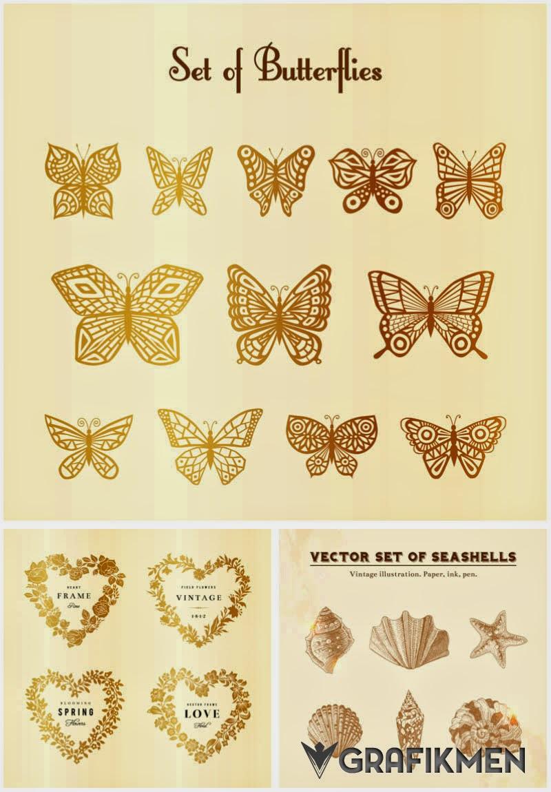 Alt�n Renkte Kelebek Vekt�rleri