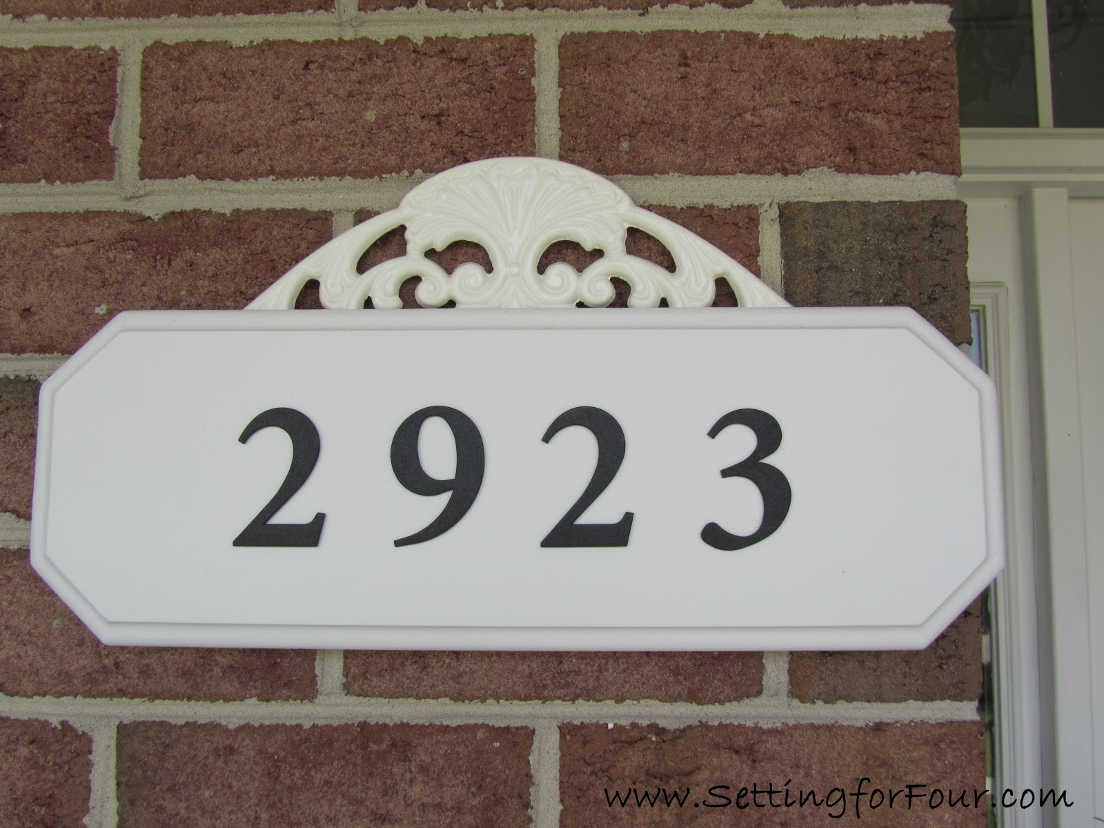 Easy diy address plaque makeover setting for four easy diy address plaque makeover dailygadgetfo Gallery