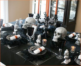 Gothic Tablescape by Hostess with the Mostess