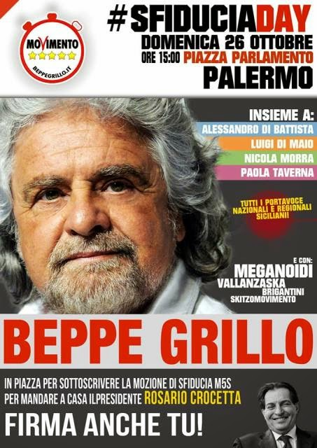 M5S: LA SICILIA SFIDUCIA CROCETTA #SFIDUCIADAY