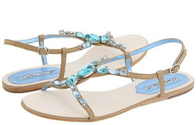 Sandals Wedding stones and cream