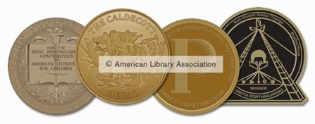 Newbery Caldecott Printz Coretta Scott King Award Seals