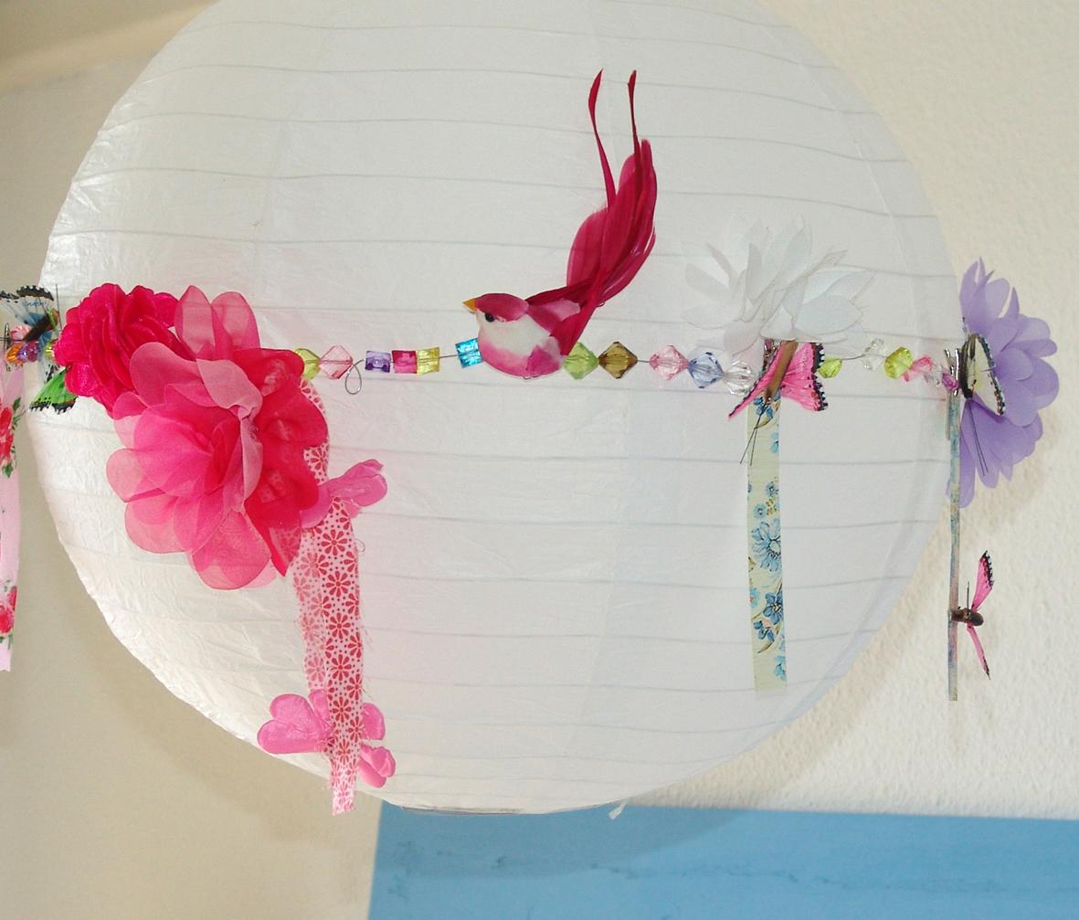 Lalibelula lampara de papel decorada - Decoracion de lamparas de papel ...