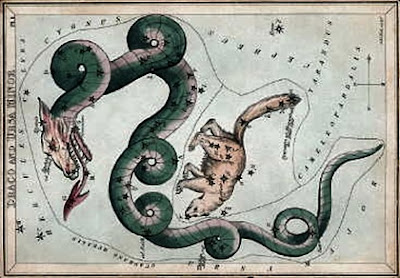 Draco a constellation card published in London c.1825