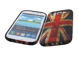 Soft Rubber Case + Screen Protector for Samsung Galaxy Grand I9082 England Flag
