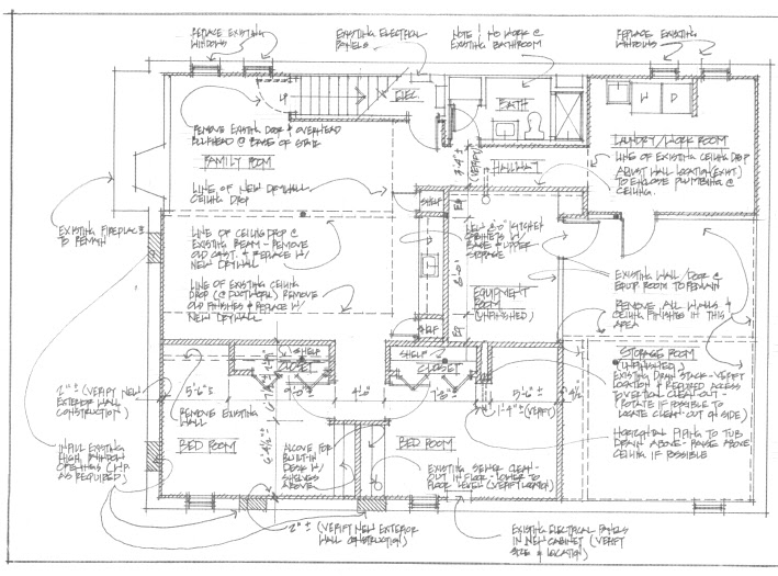 Simple Floorplan for Our Care Free Home us Basement
