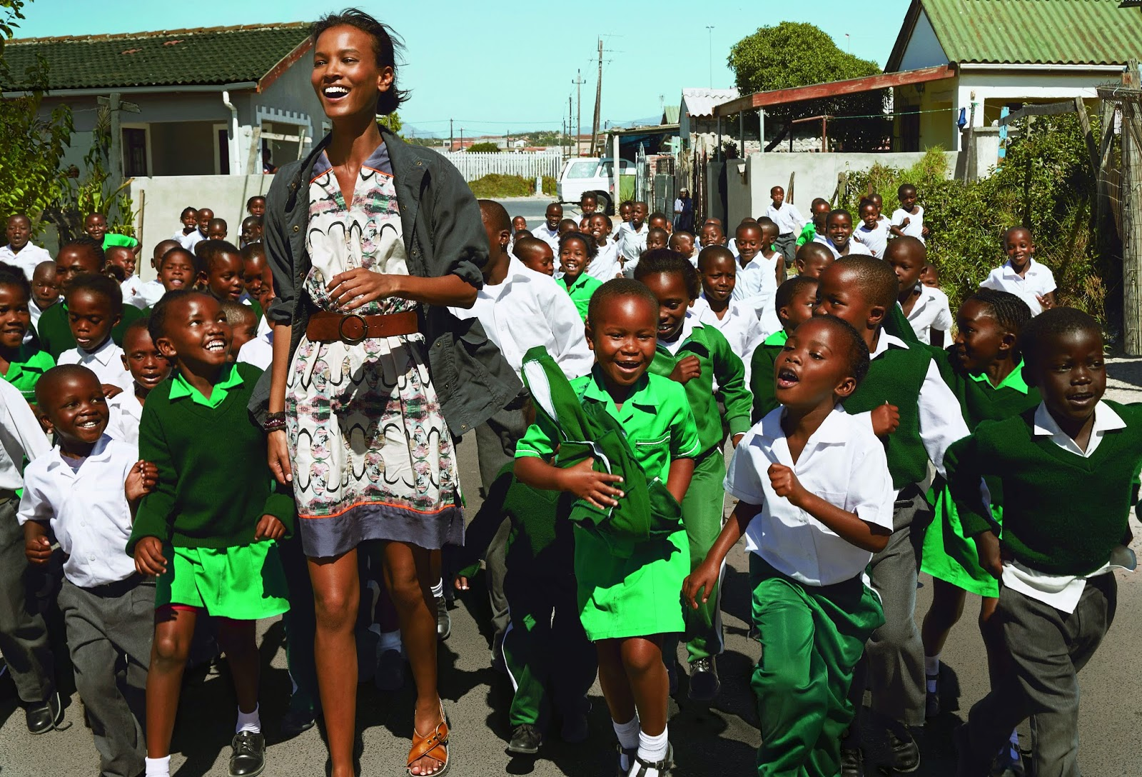 Liya Kebede as she visited South Africa to learn more about Born Free.