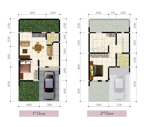 tipe rumah mampang hills