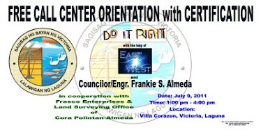 July 9, 2011- DO IT RIGHT advocacy FREE Call Center Orientation