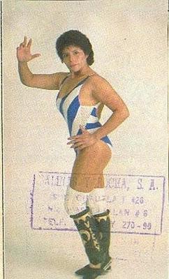 Mexican luchadora Vicky Carranza