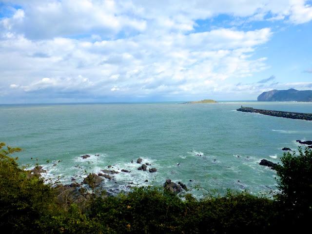 Izaro y Cabo Oñogo desde la atalaya de Bermeo