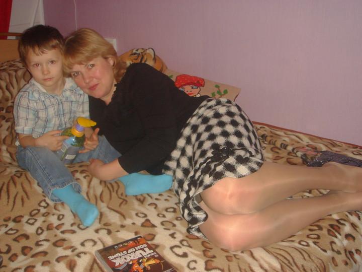 При голая фото мама сыне