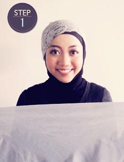 Cara jilbab segiempat