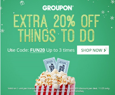 Groupon 20% Off Things To Do Promo Code