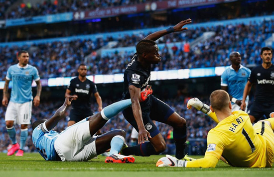 Manchester City 1 x 2 West Ham - Premier League 2015/16