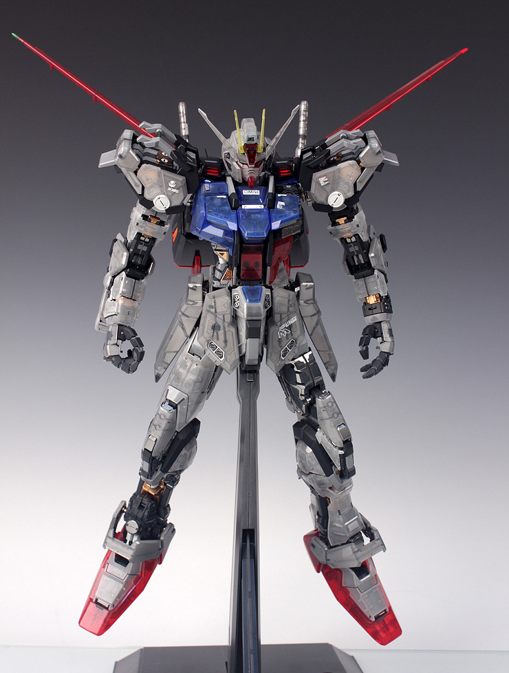 PG 1/60 Aile Strike Gundam 30th Anniversary Color Clear Ver. - Painted Build