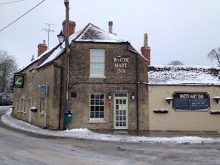 The White Hart in the January snow