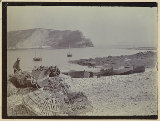 In the 'Good Old Days' Lulworth Cove was one of the chief centres of the smuggling trade along the south coast as owing to its peculiar conformation the entrance is practically hidden.