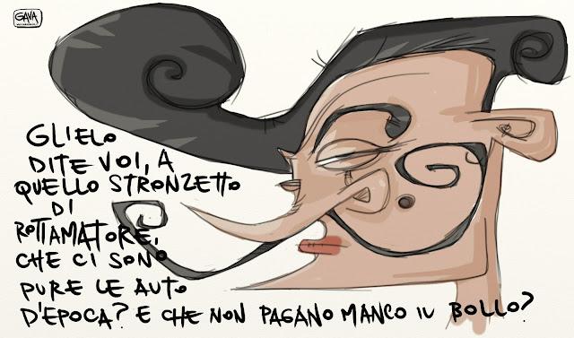 Gava Satira Vignette Renzi rottamatore epoca