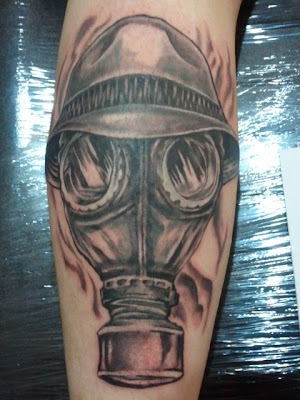 gas mask tattoo Sandman