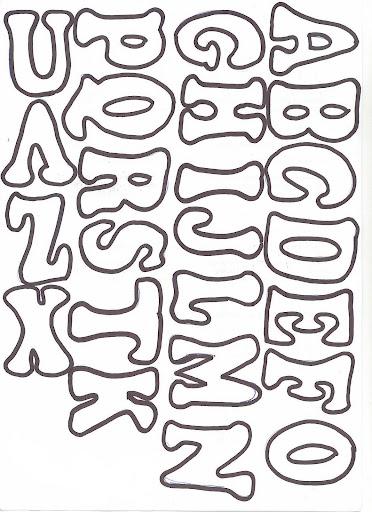 Moldes de letras para mural moldes das letras do alfabeto - Formas de letras para decorar ...