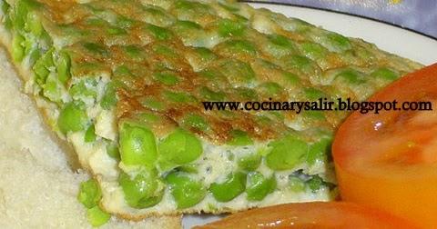 Cocinar y salir tortilla de guisantes for Cocinar guisantes frescos