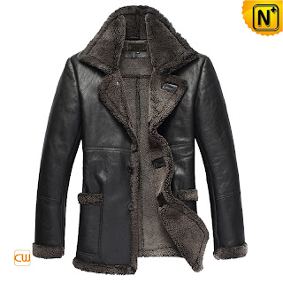 black sheepskin coat for men