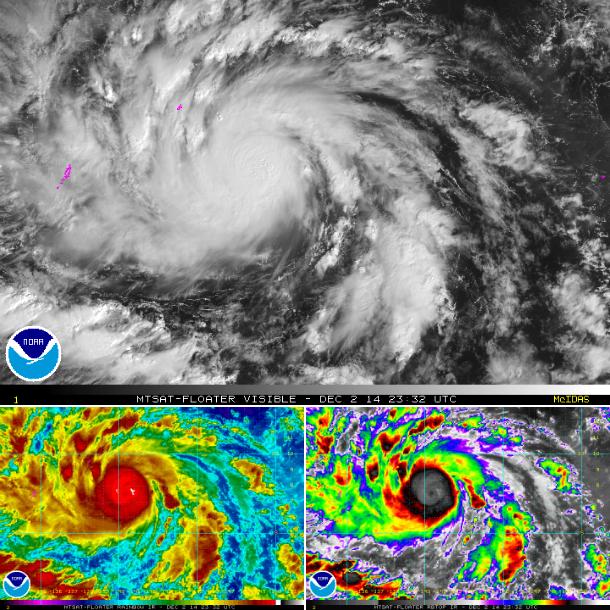 Tifón Hagupit 4 de Diciembre 2014