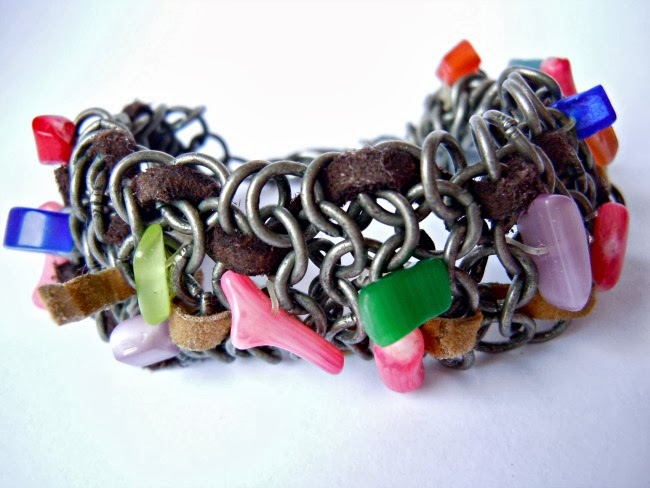 bracelet-mix-beads-metal-diy-diyearte-leather-handmade-pulsera-bolas-cosidas