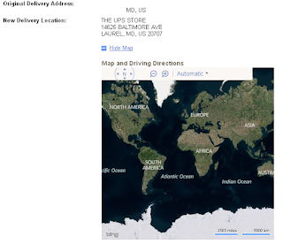 UPS shows map ... of the WORLD!