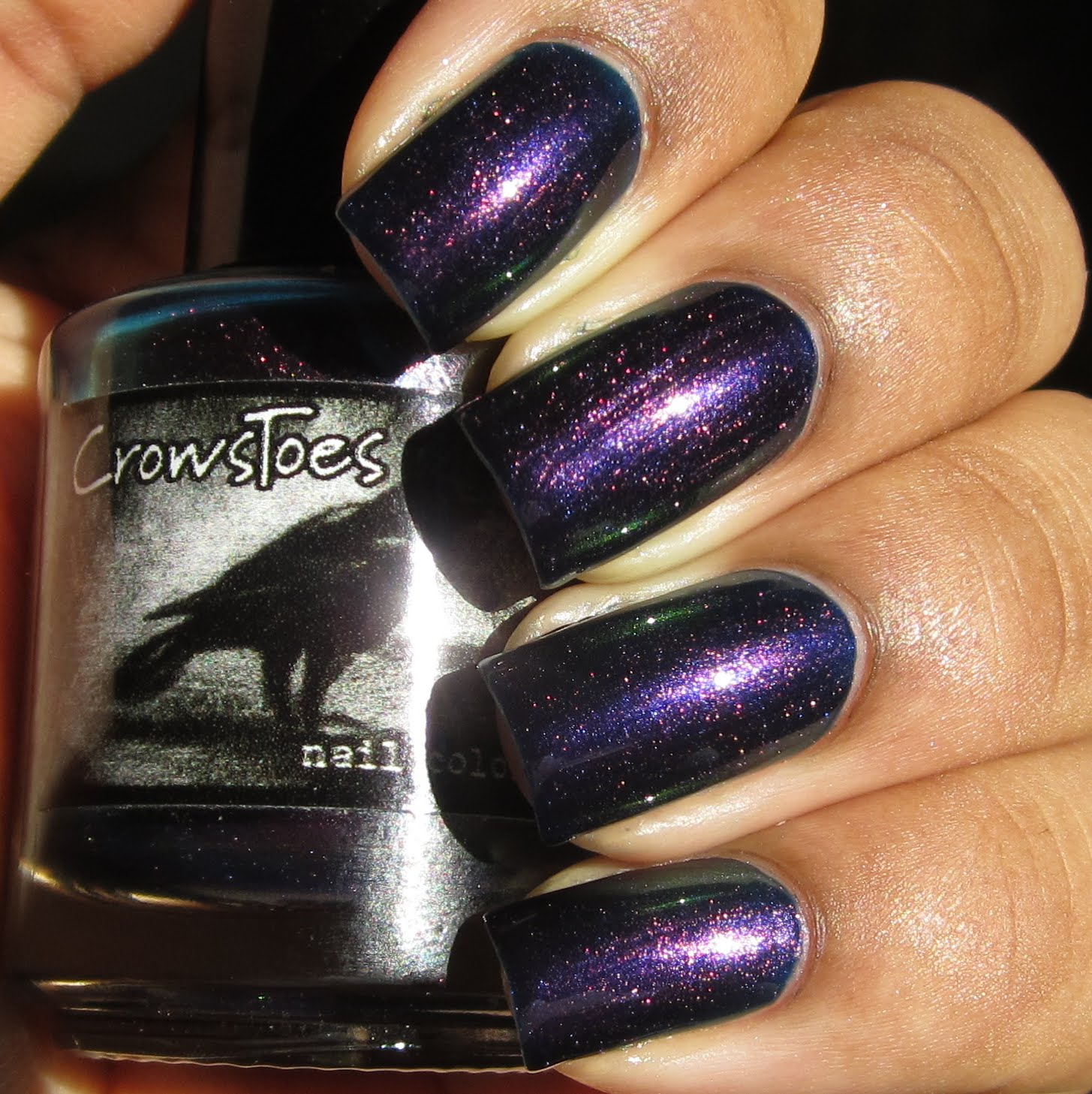 Crows Toes Huginn & Muninn duochrome nail polish swatch