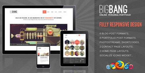 Download Bigbang Responsive WordPress Template Free