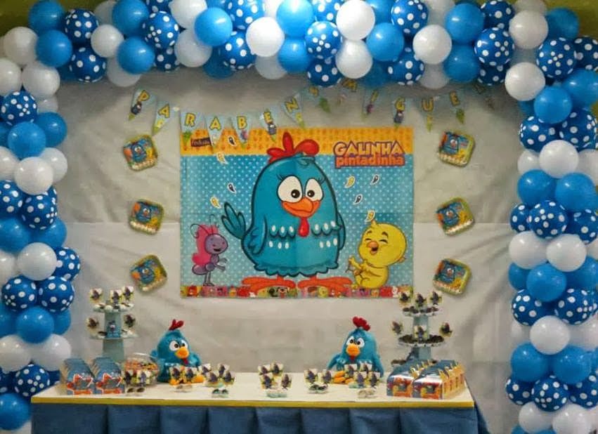 decoracao galinha pintadinha azul e amarelo:Neo Decor: Aniversário da Galinha Pintadinha