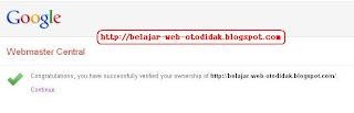 Meta Tag Google Webmaster Tools