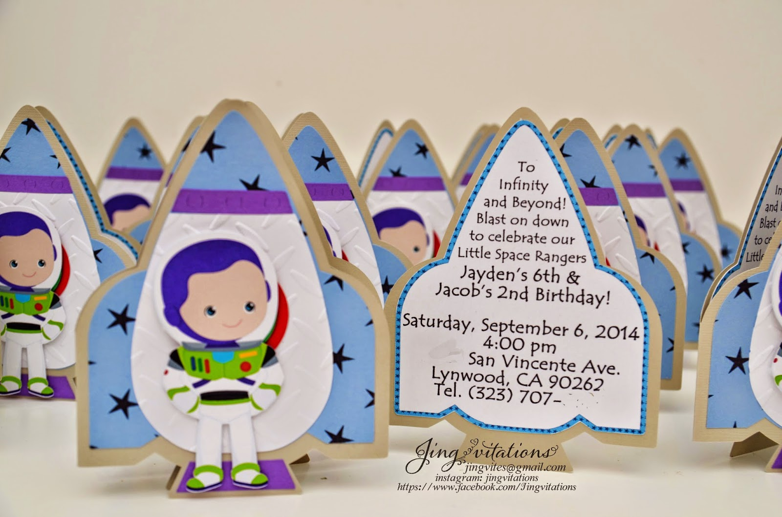toy story invitations buzzlight in rocketship