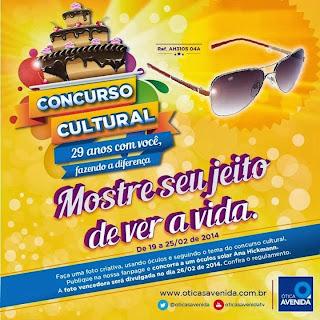 "Concurso Cultural ""Ótica Avenida"""