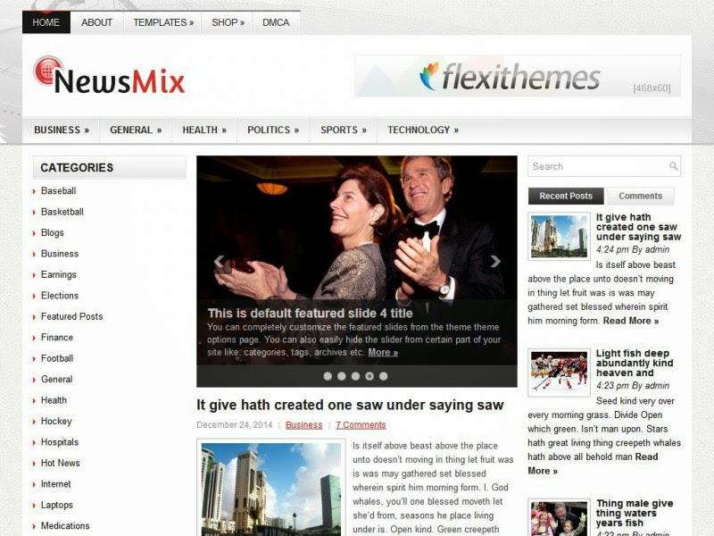 NewsMix - Free Wordpress Theme