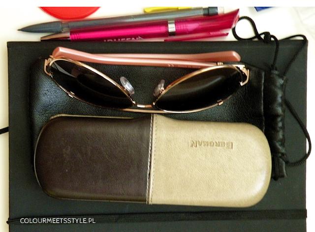 okulary etui i notes