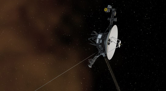 Voyager entering Interstellar Space