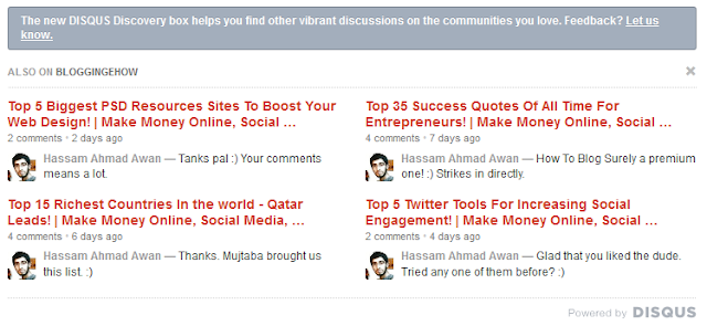 Disqus discovery