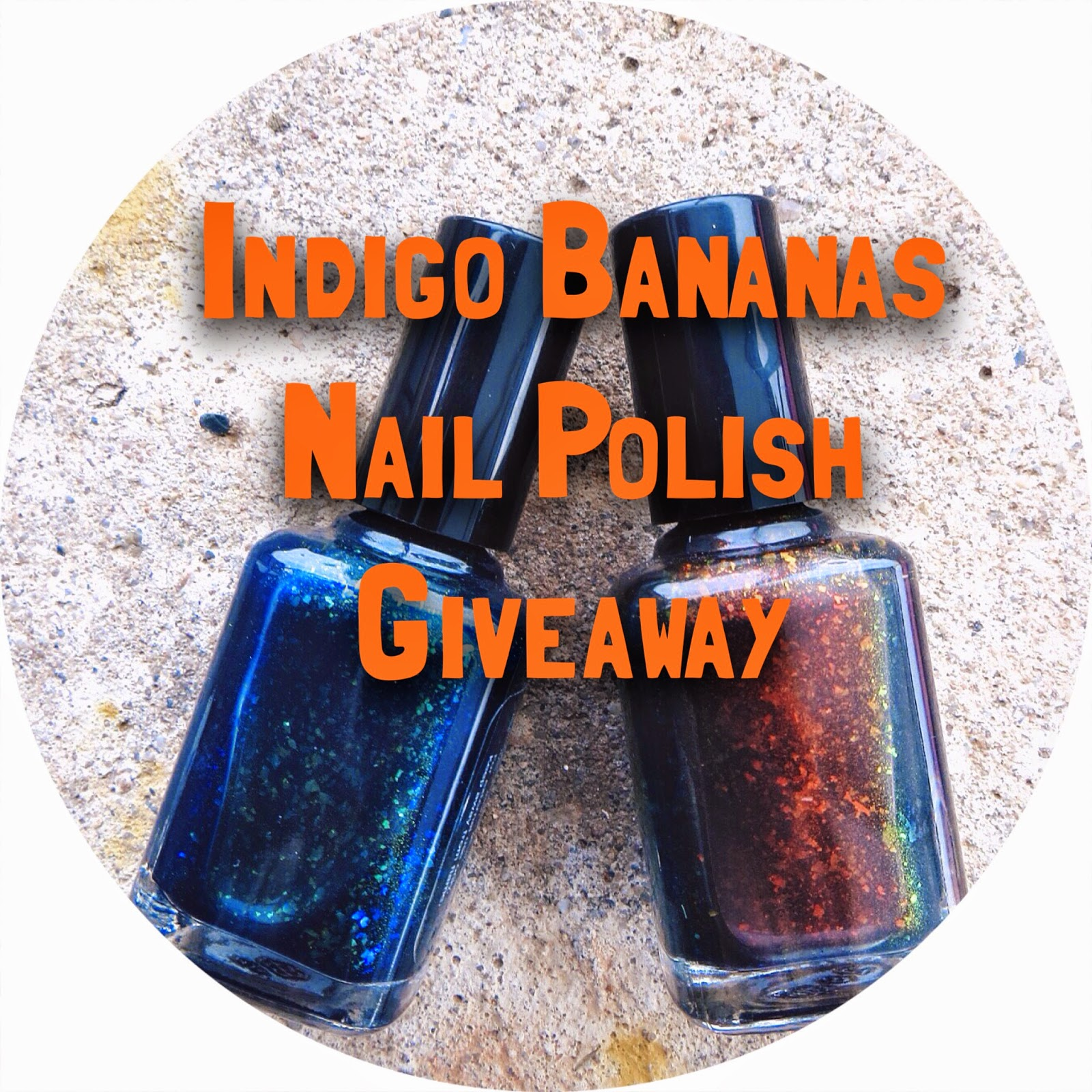 indigo bananas nail polish giveaway, freebie friday, giveaway, sweepstakes, free nail polish, beauty products, flakie nail polish